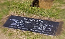 The new grave marker for the Chandler gravesite...
