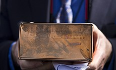 The box holding the ashes of Pearl Chandler, wh...