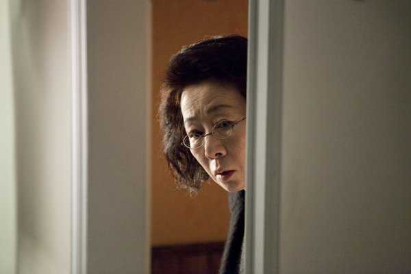 "Yeo-Jong Yun as Mrs. Cho in ""The Housemaid."""