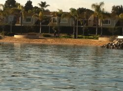 Waterfront properties on San Diego Bay in Coronado are among areas at potential risk from predicted sea level rise.