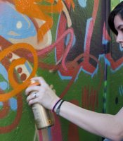 "This is Carlie Schultz's second graffiti class at the art school; she tags by the name of ""Soul""."