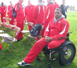 Marine Justin Knowles at the inaugural trials for the Warrior Games.
