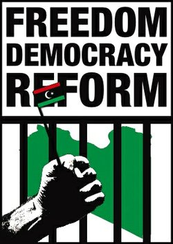A Libyan pro-Democracy poster.