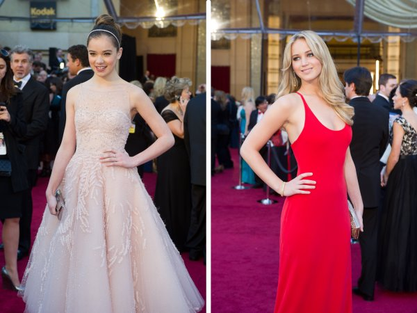 "The next generation of actresses showed some class. Hailee Steinfeld (nominated fro ""True Grit"") and Jennifer Lawrence (nominated for ""Winter's Bone""). A friend quite accurately noted that it's all right for the teenaged Steinfeld to look like a Disney Princess, and Lawrence proved that less is more in more ways than one."