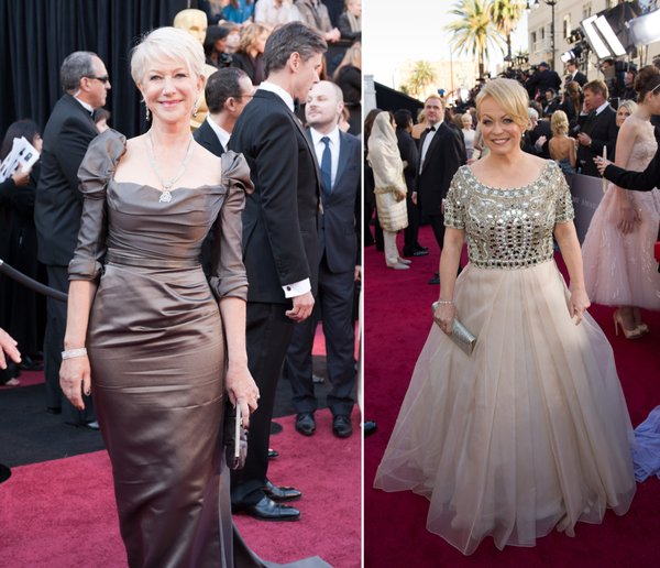 The ever elegant Helen Mirren and the most deserving Best Supporting Actress nominee Jacki Weaver.