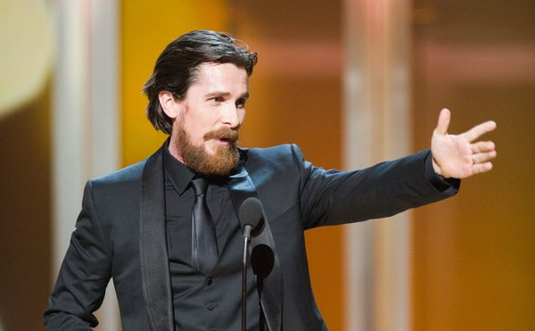 Best Supporting Actor winner Christian Bale.