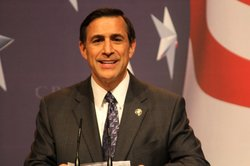 Rep. Darrell Issa speaking at the Conservative Political Action Conference.