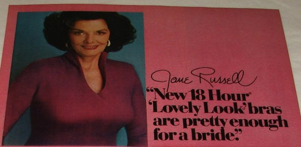 Jane Russell advertising for Platex.