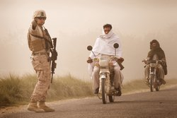 U.S. Marine at checkpoint in Helmand Province, Afghanistan