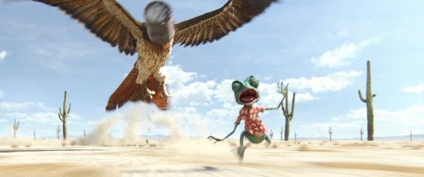 "The wonderful animation of ""Rango,"" here with a little nod to Hitchcock's 'North By Northwest."""