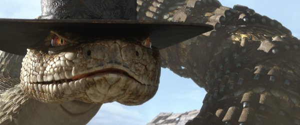 "Bill Nighy was wasted as the voice of the evil snake in ""Rango."""