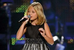 """America's Got Talent"" sensation Jackie Evancho performs in ""Hitman Returns: David Foster & Friends."""
