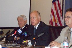 Gov. Jerry Brown received support for his plan to shift more responsibilities...