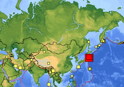 USGS map shows the size and location of a large earthquake that struck near t...