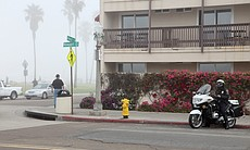 Police officers in Ocean Beach tried to maintai...