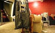 The leather lederhosen worn by the Kit Kat boys at the club.