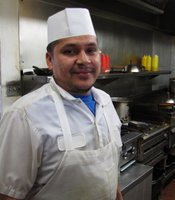 Gerardo Manzo has been working as a cook at Grandma's for over 8 years.