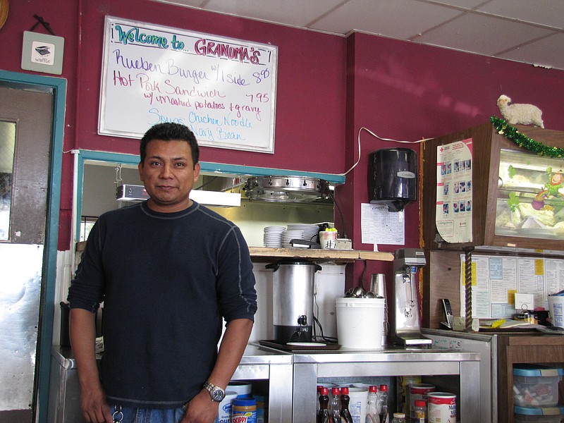 Faustino Hernandez, the 36 year-old owner of Grandma's restaurant in Oceanside.