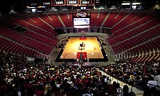 It's estimated that 3,000 fans gathered to watch the game on the Jumbotron at Viejas.