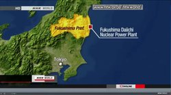 Map showing the location of the Tokyo Electric Power Company's Fukushima Daii...
