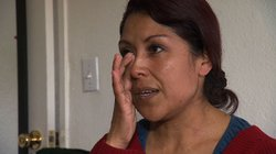 Parent Angeles Morrales breaks down while describing her family's struggle.