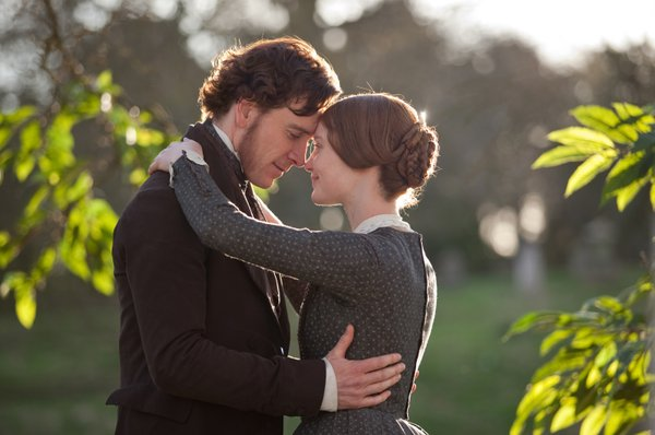 "Michael Fassbender and Mia Wasikowska in ""Jane Eyre."""