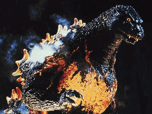 "Godzilla symbolizes a nuclear reactor meltdown in ""Godzilla vs. Destroyah"" (1995)."