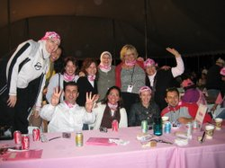 May Almahayni joins friends at the Susan B. Komen