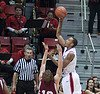 Aztecs forward Malcolm Thomas elevates over a defender in a recent SDSU game.