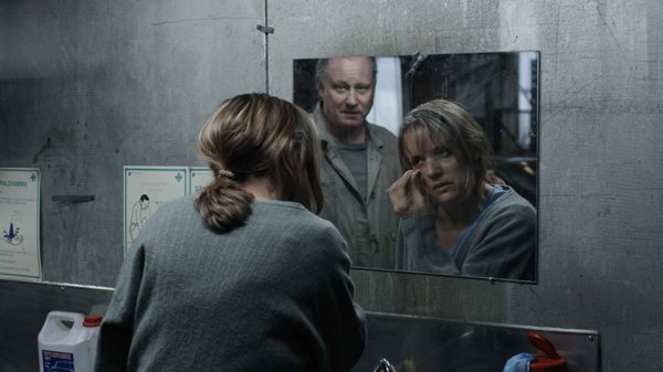 "Stellan Skarsgård and Jannike Kruse in ""A Somewhat Gentle Man."""