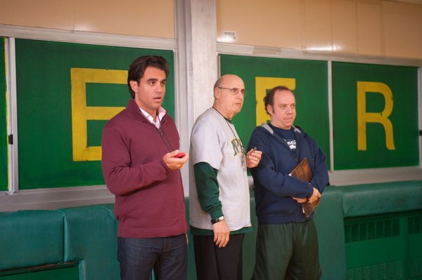 "Bobby Cannavale, Jeffrey Tambor, and Paul Giamatti are the coaches of a losing high school wrestling team in ""Win Win."""