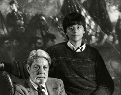 Filmmaker Ken Burns and writer Shelby Foote, a commentator in THE CIVIL WAR, ...