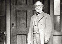 General Robert E. Lee, photographed by Mathew Brady on the back porch of his ...