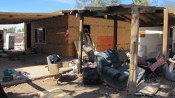 Baja California Government officials gave out 800 construction packages to people who's homes government officials deemed partially damaged. This home's owner, Lino Camacho, says it would have been impossible to repair his house with the government aid. He tore down his 60-year-old old adobe and started over.