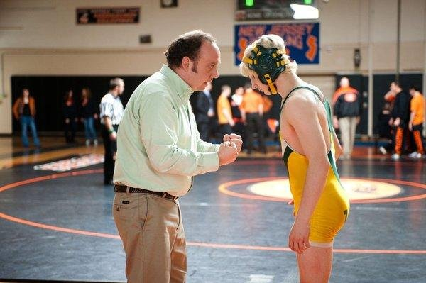 "Paul Giamatti is a high school wrestling coach and Alex Shaffer is a teen with talent in ""Win win."""