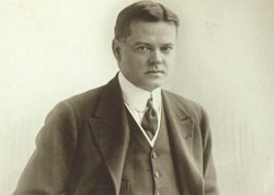 Herbert Hoover, chairman of the American Relief Administration, 1921