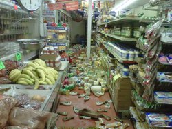 The aisles of Lalo Lopez's Calexico grocery store were littered with merchandise following last year's Easter earthquake.