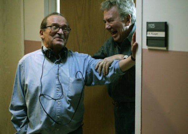 "Sidney Lumet with Albert Finney on the set of ""Before the Devil Knows You're Dead."""