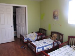 "The ""nap"" room at Lia Woldu's home and childcare facility was especially designed for children up to 4 years old."