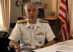 """Rear Admiral David Titley, Oceanographer of the Navy, and a contributor to the Pentagon's 2010 Quadrennial Defense Review which, for the first time, considered climate change as a """"threat multiplier."""" """"…climate change is happening, and there is very, very strong evidence that a large part of this is, in fact, man-made."""""""