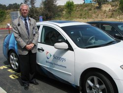Dr Michael Lobatz beside the dual control vehicle used by Scripps Encinitas t...