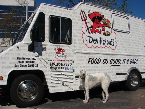 """Devilicious"" food truck hit the streets of San Diego January 2011."