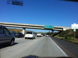 Route 52 traffic In San Diego jams up around Mast Boulevard where it narrows ...