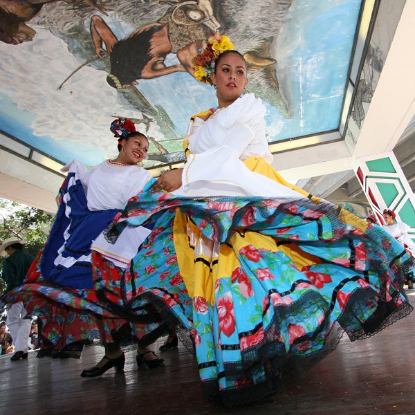 Folk dancers are pictured from Chicano Park Day in 2009.