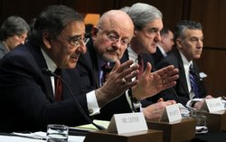 CIA Director Leon Panetta, Director of National Intelligence James Clapper, F...