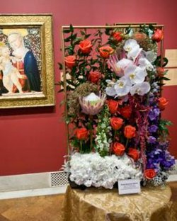 A floral arrangement from San Diego Museum of Art's annual Art Alive event.