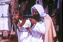 Osama bin Laden seen in an undated photo taken from a television image.