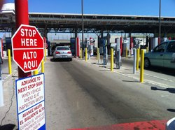 Travelers enter the United States at the Otay Mesa Port of Entry, May 2, 2011.