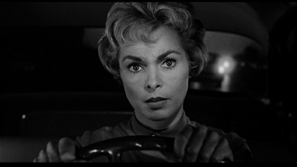 "Janet Leigh in ""Psycho."""