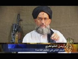 In this video grab taken from a broadcast by Arab television, Al-Qaeda repres...
